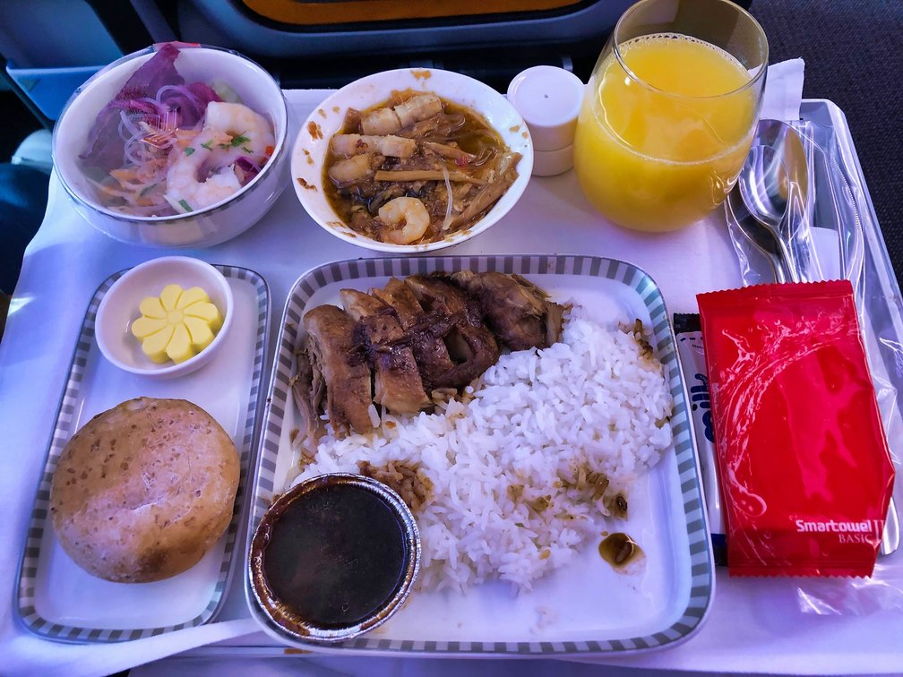 Singapore Airlines A380 Dining Meal