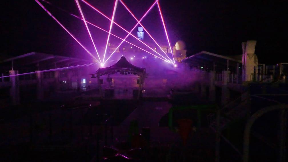 Dream Cruise Laser Display Performance